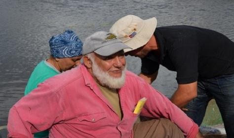 Toby en una de sus recorridos por los pántanos de la Ciénaga de Zapata